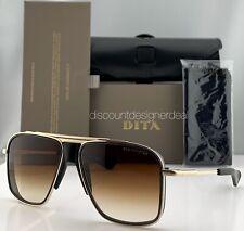 DITA INITIATOR Sunglasses Matte Black Gold Brown Gradient Lens DTS116-58-02 NEW