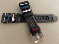 New Timex Black Acqua Indiglo Alarm Chronograph Stopwatch Sport 20mm Watch Band