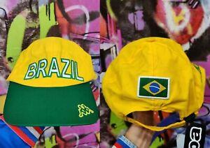 Brazil National Football Team Soccer Snapback Cap Hat Vintage Rare Old One Size