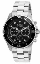 Invicta 21787 Pro Diver Men's Chronograph 45mm Stainless Steel Black Dial Watch