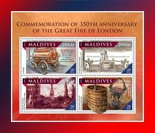 Maldiven / Maldives - Postfris/MNH - Sheet Great Fire of London 2016