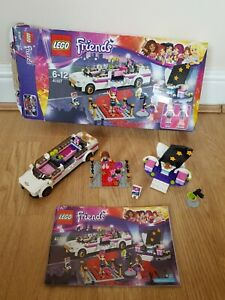 LEGO FRIENDS Set 41107 HEARTLAKE POP STAR LIMOUSINE Car 2015 Book Boxed Minifigs