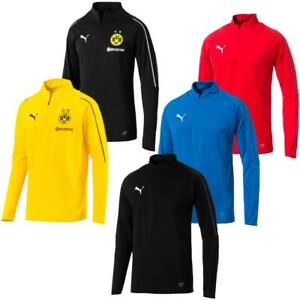 PUMA BVB, FINAL 1/4 Zip Training Trainingsshirt Fußball Fitness Langarm Shirt