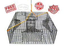 Commercial heavy duty Lobster Shrimp Crab Fish Bait Cage Cast Net Trap Fishing