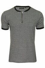Brave Soul Mens Baseball Neck T-Shirt 'Siamese' - Short Sleeved