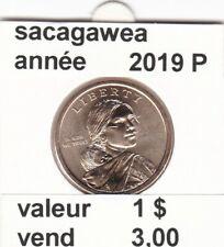 pieces de 1 $ sacagawea  2019 P