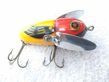 L@K Not Common Old Vintage Heddon Crazy Crawler in Gold Chin Fishing Lure L@K