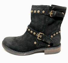 UGG Fabrizia Studded Suede Boots Black s/n 1003235 Size 7