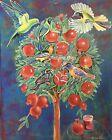 """'""""Pomegranate Tree'' Acrylic Painting By Tatiana Oles"""