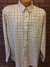 Jos. A. Bank Mens Plaid Shirt Signature Long Sleeve Button Front L Large B8-18