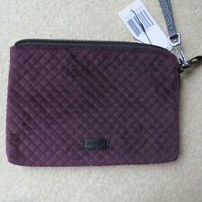 Vera Bradley Iconic Pouch Wristlet - Blackberry Wine - Quilted Velveteen NWT