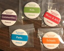 "Starbucks ""Onward"" buttons pins - set of 5 - RARE! - Free shipping"