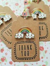 1 x Cute Rainbow and Smiley Cloud Pin Badge Gift Sister Friend Mum Aunty Teacher