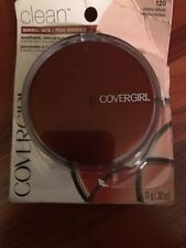 CoverGirl Clean Pressed Facial Powder Compact, Creamy Natural [120], 0.39 oz
