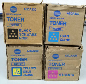 Genuine Konica Minolta TN-324 Toner Set CMYK - TN 324