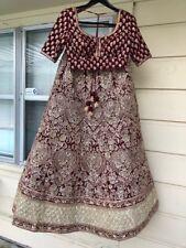 Indian Bridal Lehenga Deep Red velvet/silk with blouse from Asopalav Ahmedabad.