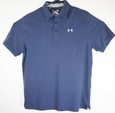 Under Armour HeatGear Performance Golf Rugby Polo Loose Fit Shirt Mens Size L