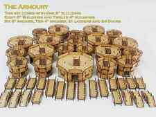 Infinity the game The Armoury Full Set 21 Peice 28mm Games Terrain