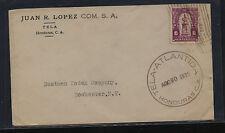 Honduras ,Tela 1926 cover to Eastman Kodak Co Ms0323
