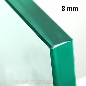 xGLASPLATTE  8 mm ESG poliert Glas Einlegeboden NACH MAß GEFERTIGT !(115,38€/m²)