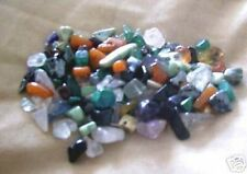 100 +  MIXED DRILLED GEMSTONE CHIP BEADS - GOOD VARIETY