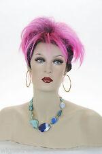Fantasy Medium Brunette Straight Fun Colors Costume Party Wigs