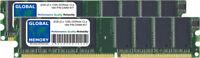 2GB (2 x 1GB) DDR 266/333/400MHz 184-PIN DIMM MEMORY RAM KIT FOR DESKTOPS/PCS