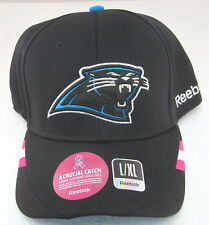 NFL Carolina Panthers Coaches Breast Cancer Awareness Fitted Hat By Reebok, L/XL