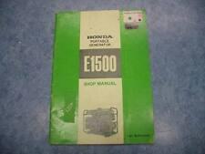 HONDA 1970 E1500 PORTABLE GENERATOR SHOP MANUAL GUIDE REPAIR