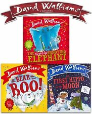 David Walliams Children Board Book Collection 3 Book Set First Hippo on the Moon