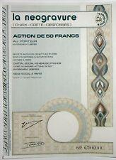 La Neogravure (CHAIX - CRETE - DESFOSSES) action de 50 Francs