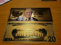 Donald Trump Gold $20 Bill With Amazing Color & Beautiful Detail On These Bills!