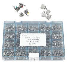 Dental Metal Orthodontics Monoblock Brackets Brace MINI Roth.022 345 Hooks 1