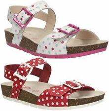 Sandales blanches en cuir pour fille de 2 à 16 ans