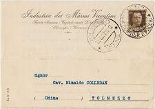CHIAMPO - INDUSTRIA DEI MARMI VICENTINI (VICENZA) 1937 X TOLMEZZO