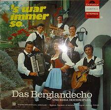 LP DAS BERGLANDECHO/S WAR IMMER SO,NM,-Polydor 2440057,Top Zustand