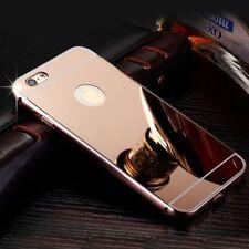 Luxury Aluminium Mirror Case i Phone Cover for iPhone Apple 6+ 6s 5c 5 SE 7 8 X