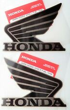 2 x Honda Fuel Tank Decals BLACK/GREY CBR CB CRF CBR600 CBR900 * GENUINE HONDA *