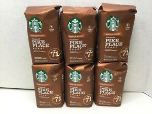 Starbucks Pike Place Medium Roast Whole Bean Coffee, CASE OF 6, 03/2021