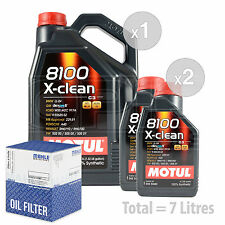 Engine Oil and Filter Service Kit 7 LITRES Motul 8100 X-clean 5W-40 7L