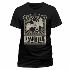 Official Led Zeppelin T Shirt Madison Square Garden 75 Black Classic Rock Metal