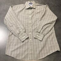 Tommy Hilfiger Men's Size Large Grey Long Sleeve Button Down Shirt Black/White