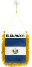 """Wholesale lot 12 El Salvador Mini Flag 4""""x6"""" Window Banner w/ suction cup"""
