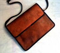 Rustic New Men's Vintage Brown Leather Messenger Laptop Satchel Shoulder Bag