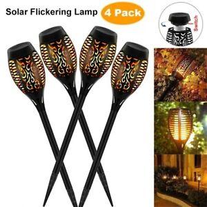LED Waterproof Outdoor Solar Torch Dancing Flame Light Garden Flickering Lamp