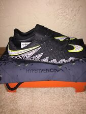 Nike Hypervenom Phinish ACC Soccer Cleat Hematite Black Volt SZ 6  (749901-001)