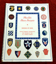 1945 SHOULDER SLEEVE INSIGNIA OF RANK SERVICE RIBBONS OF U.S. ARMED FORCES BOOK