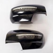 Black Door Mirror Cover Trim Fit Suzuki Swift Hatchback 2012-2015 LED LIGHT