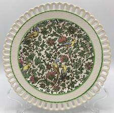 Royal Doulton Persian Salad Plate D3550 Pierced Rim Parrots Tropical Antique