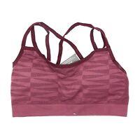 Smartwool Women's Merino Seamless Strappy Bra in Sangria 3905 Size S